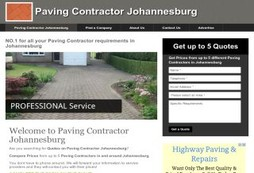 Paving Contractor Johannesburg